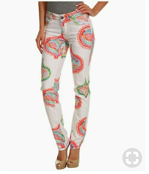 best sale authentic quality shades of Desigual Zelda Paisley Print Pants/Jeans